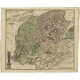 Antique Map of Friesland by Halma (1718)