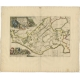 Antique Map of the Gaasterland township (Friesland) by Halma (1718)