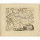 Antique Map of the Utingeradeel township (Friesland) by Halma (1718)