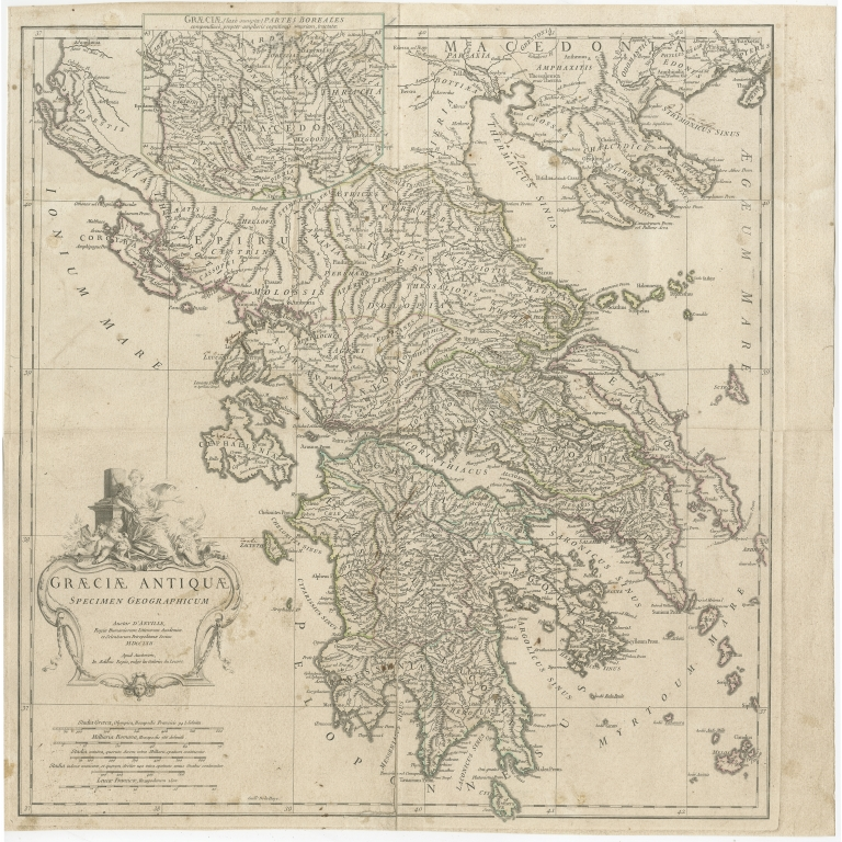 Antique Map of Greece by Allard (c.1786)