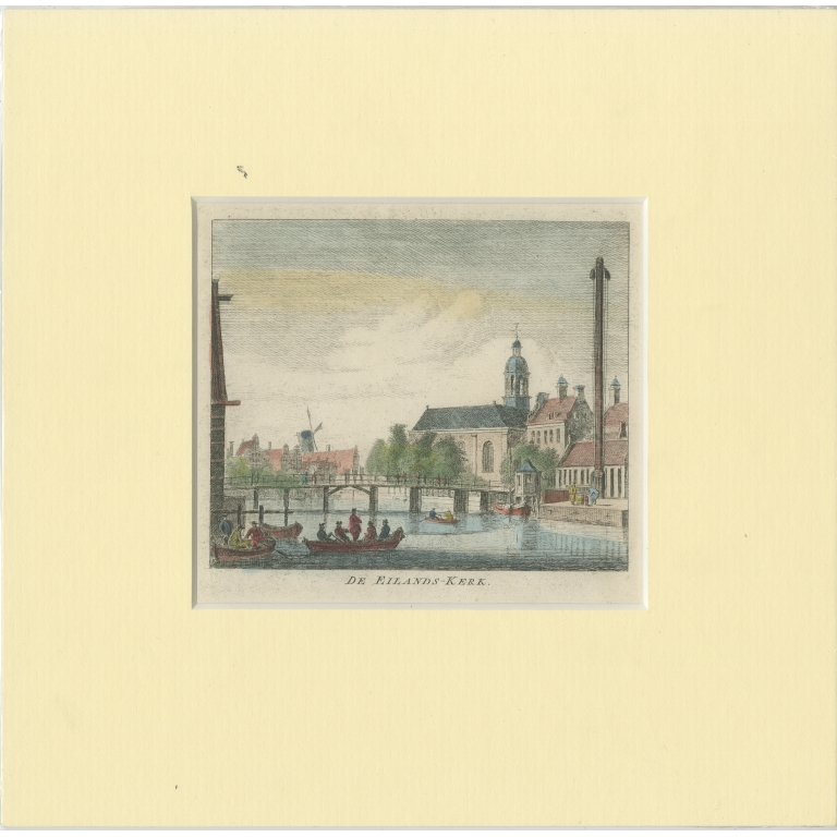 Antique Print of the 'Eilandskerk' in Amsterdam by Wagenaar (c.1760)