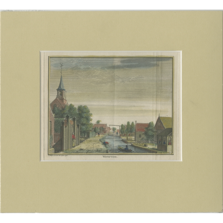 Antique Print of the Village of Waverveen by Philips (c.1765)