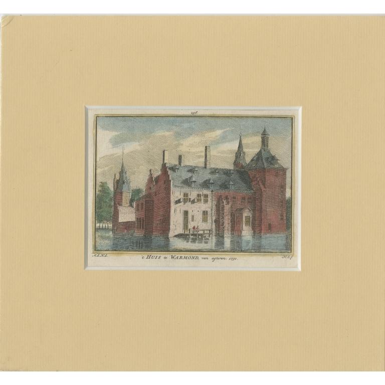 Antique Print of Warmond Castle by Spilman (c.1750)