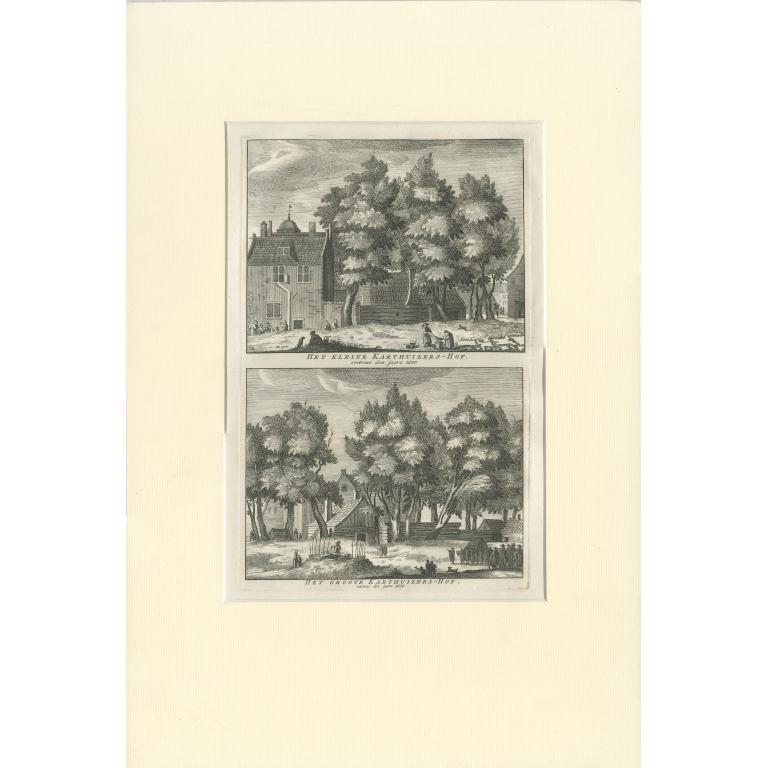 Antique Print of the 'Karthuizers Hof' in Amsterdam by Wagenaar (c.1760)