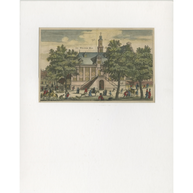 Antique Print of the 'Westerhal' in Amsterdam by Dapper (c.1663)